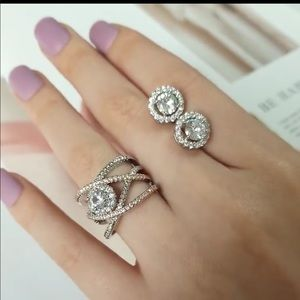 Fashion ring with earring